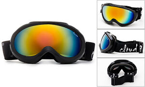 Cloud-9-Kids-Snow-Ski-Goggles-Youth-Black-Orange-Flash-Mirror-Pouch-Included