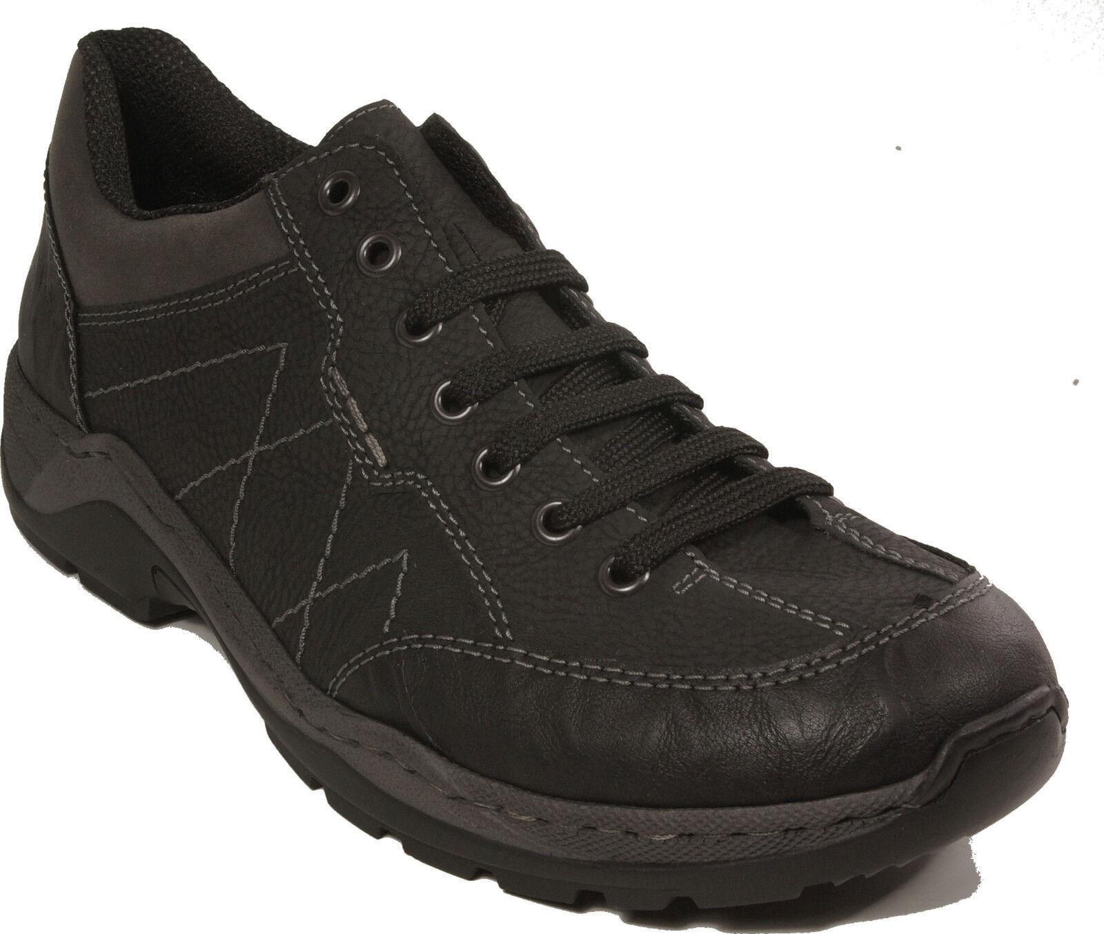 RIEKER Schuhe Halbschuhe schwarz echt Leder Schnürschuhe NEU
