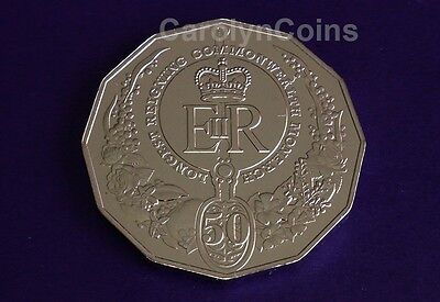 2015 UNC 50c Coin Longest Reigning Commonwealth Monarch Royal Collection
