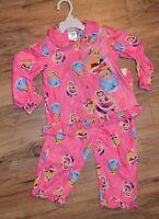 Disney Winter Princess Shirt & Pants 2 Piece Pajamas Set Bell,cinderella 2t