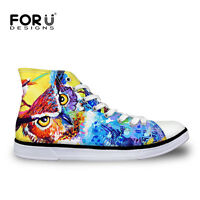 Animal Print Womens Girls Lace-up Hi High Top Shoes Sneakers Casual Canvas Shoes
