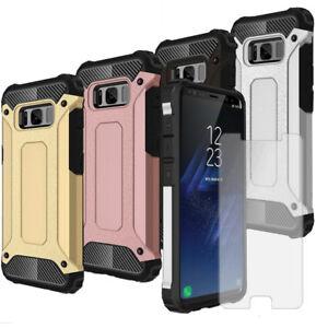 Smartphone-case-Armor-pour-Samsung-Galaxy-S8-Plus-avec-telephone-protecteur-d-039-ecran