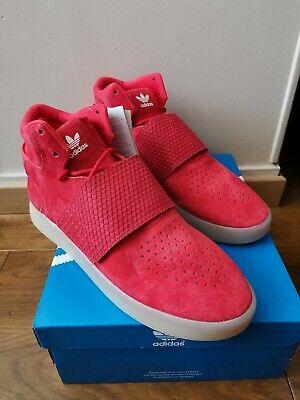 adidas Originals Tubular Invader Strap Baskets Hommes Daim rouge T 43 13 | eBay