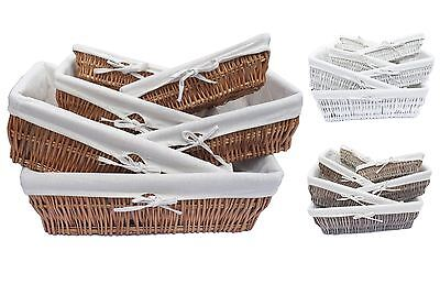 Betrouwbaar Full Wicker Strong Wider Shallow Wicker Storage Basket Xmas Hamper Basket Gift