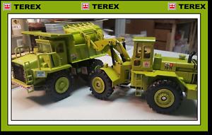 2 x TEREX GM models - 1 40 NZG 33-07 Hauler  & 72-70 Gescha Loader