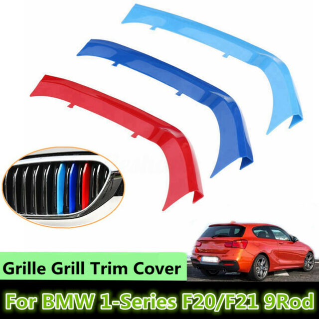 3x Tricolor Front Grille Grill Strip Cover Trim For BMW 1 Series F20/F21 15-19