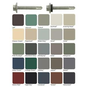 COLORBOND-Hex-Metal-10g-16-x-16mm-Self-Drilling-Tek-Screw-Painted