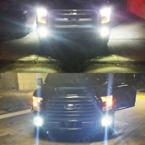 2x xenon white cree high power led fog lights bulbs for 2015 2016 2017 f150 f250 ebay. Black Bedroom Furniture Sets. Home Design Ideas