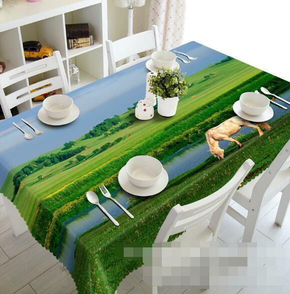 3D Pasture 44 Tablecloth Table Cover Cloth Birthday Party Event AJ WALLPAPER AU