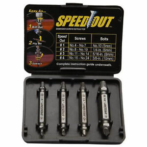Speed-Out-Screw-Extractor-Drill-Bits-4-PCS-Tool-Set-Broken-Damaged-Bolt-Remover