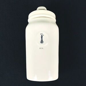 Rae-Dunn-Magenta-Ivory-Ceramic-Farmhouse-MIX-Icon-Hand-Mixer-Canister-With-Lid