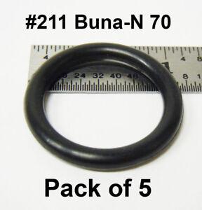 """O-211 211 O Ring Seal Buna N; 13//16/"""" ID X 1 1//16/"""" OD X 1//8/"""" CS Pack of 20"""