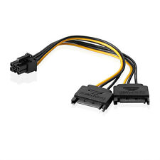 15pin SATA 2 Male to one 6-pin Female PCI Express Video Card Power Cable Adapter