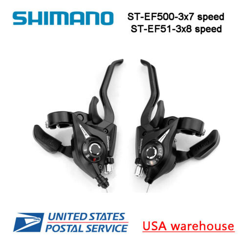 Shimano ST-EF51 ST-EF500 3x7 3x8 Speed Shifters Brake Levers Combo Kit Bike