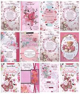 Image Is Loading FEMALE RELATION Amp OPEN BIRTHDAY CARDS WITH 8