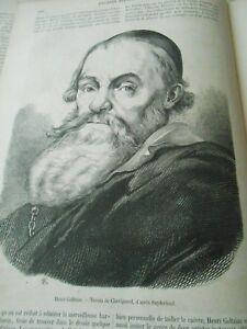 Portrait De Goltzius Gravure Old Print 1860 Frissons Et Douleurs