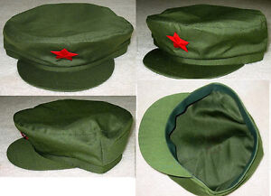 Details About China Chinese Pla Solr Red Army Green Cap Chairman Mao Hat