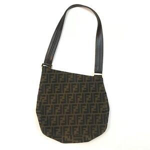 Image is loading Vintage-Fendi-Zucca-Pattern-Asymmetric-Bag-Purse-Handbag- 88a7d55f18616