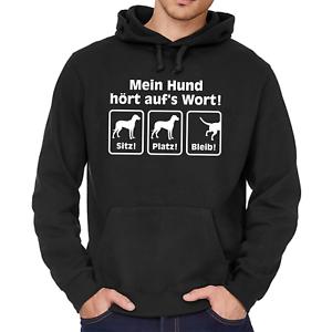 Mein-Hund-hoert-auf-039-s-Wort-aufs-Sitz-Platz-Bleib-Comedy-Kapuzenpullover-Hoodie