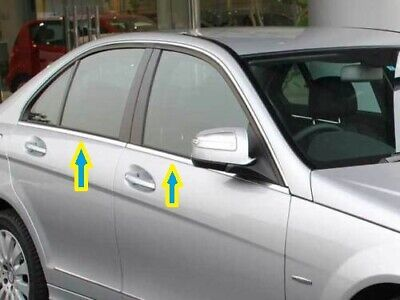 2005-2013 mercedes ML W164 Chrome Windows Frame Trim Cover 4pcs S.STEEL
