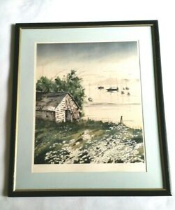 Vintage-Donald-Voorhees-Lithograph-Signed-amp-Numbered-206-of-375-Framed-Matted
