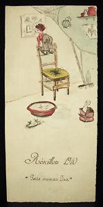 034-Small-Mum-Lisa-034-per-Marcel-Courtin-034-M-C-034-Watercolour-Original-Eve-1910