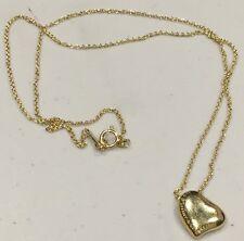 """Tiffany & Co. Elsa Peretti Full Heart 18k Yellow Gold Necklace 16"""""""
