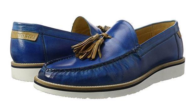 Melvin & Hamilton Jack 7 Men's Leather Leather Leather Loafers slip-on schuhe Größe 44EU(10UK) 80fbec