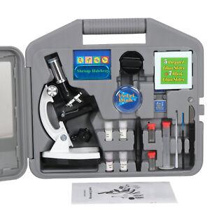 52-Pcs-Kids-Educational-Learning-Science-Lab-Kit-Microscope-Slides-Set-W-Case