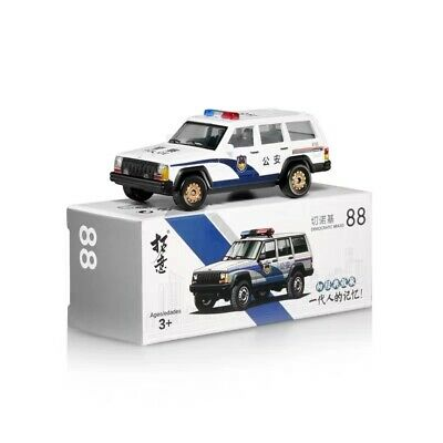 1//64 Beijing Jeep 213 Cherokee Police Car Public Security #88 Alloy Car Model