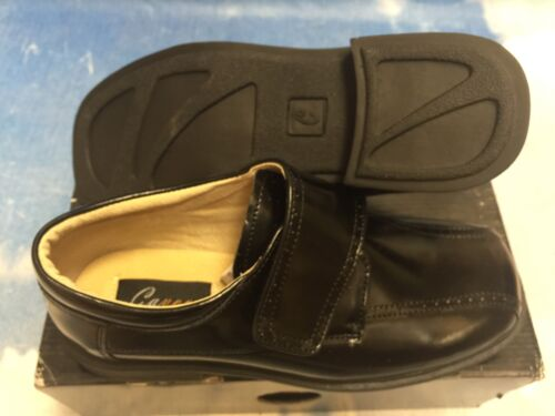 Hook /& Loop Leather School Uniform Oxford Dress Shoe Toddler Size 10 to Youth 6