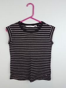238aaae40 VTG RETRO WOMENS USA ATHLETIC SPORTS TOMMY HILFIGER STRIPED TOP VGC UK S