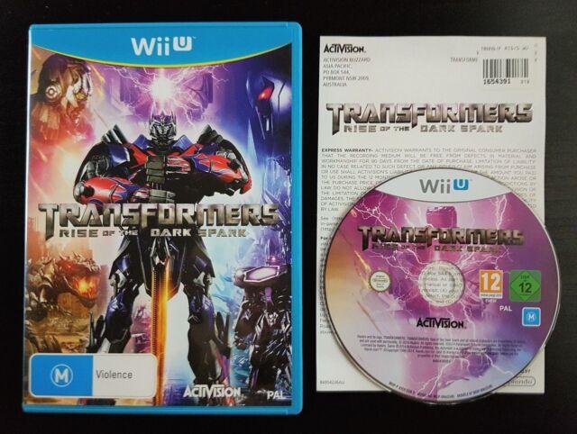 Transformers: Rise of the Dark Spark-sehr guter Zustand-Wii U-PAL-selten