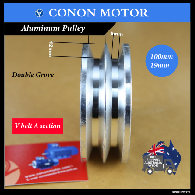 Double Groove Pulley 100mm Shaft Size 19mm Air Compressor Wheel Driven