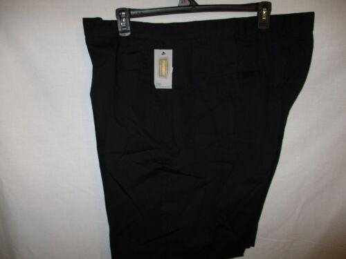 Foundry 100/% Cotton BIG TALL  Black Flat Front Black Casual Shorts SR $42 NEW