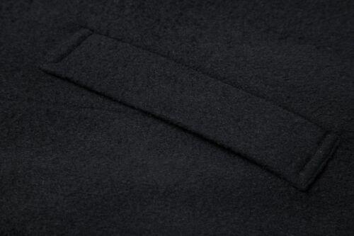Mens Black Long Overcoat Wool /& Cashmere Warm Winter MOD Cromby