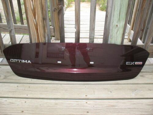 2011-2013 Optima EX GDI Rear Molding Deck Lid IRR Code Dark Cherry Red Metallic