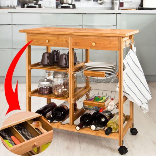 Desserte à roulettes,Kitchen Trolley,FKW FR Meuble de cuisine SoBuy® Rangement