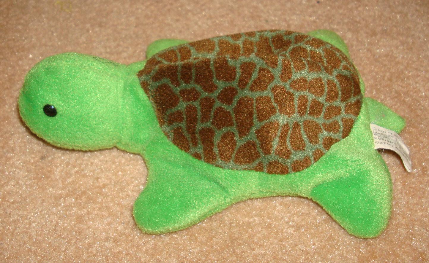 1993 SPEEDY Turtle TY Beanie Baby Plush Doll Tush Tag 1st GENERATION Tortoise