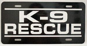 K-9 RESCUE LICENSE PLATE GERMAN SHEPHERD POLICE P71 DOG