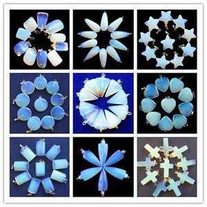 10pcs-Opal-Opalite-Mixed-Shape-Pendant-Bead