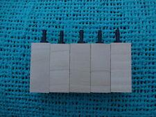 """5  pack wooden air diffuser wood airstone air aquarium  2"""" x 3/4""""  limewood"""