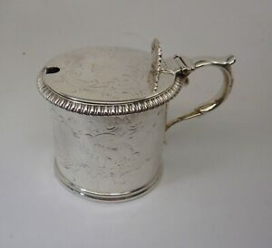 Antique-Victorian-Large-Solid-Silver-Mustard-Pot