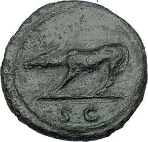 TRAJAN-109AD-Rome-Quadrans-or-Semis-Authentic-Ancient-Roman-Coin-She-Wolf-i65547