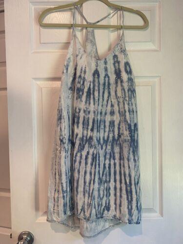 Cloth & Stone Blue Tie Dye Dress