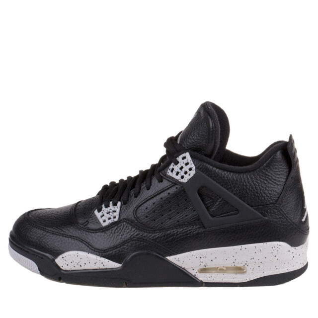e14cf2c7aa1d2 Nike Air Jordan 4 IV Retro LS Oreo Black/tech Grey 314254-003 DS Size 18