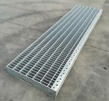 gradini da 120 cm grigliato zincato gradino DENTELLATO scale scalino antiscivolo