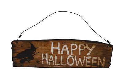 Gisela Graham Happy Halloween Plaque - Party Decoration - Hanging halloween sign