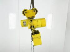Budgit D 205 3 1 Ton 10 Lift 230v 3ph Rope Control Electric Chain Hoist Trolley
