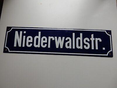 Tx 78640 1950 Niederwaldstraße Wiesbaden Sign Niederwaldstr Kyle Systematic Enamel Ww2